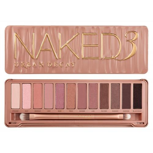 Urban Decay Naked3 Palette + Urban Decay Naked3 Make Up Brushes