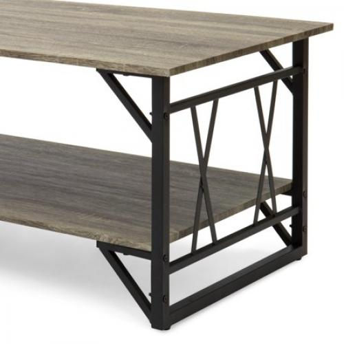 f0bdbb99d2e6 Best Choice Modern Metal and Wooden Coffee Table / TradePongo
