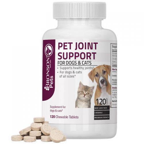 Bronson Pet Joint Support for Dogs and Cats, 120 Chewable Tablets