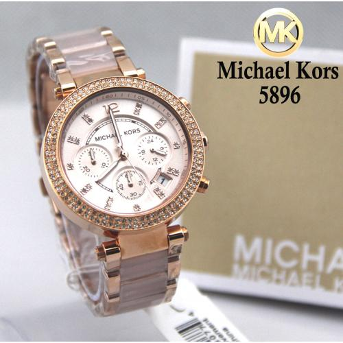 56001dc00b50 Michael Kors Original MK5896 Women s Parker Rose Gold Blush Crystal Set  Watch