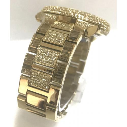 f1ffa4094500 New Michael Kors Camille Gold Pave Dial Crystal Encrusted MK5720 Women's  Watch