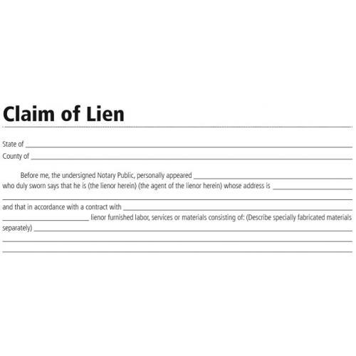 Lf136 Claim Of Lien Form Instant Download
