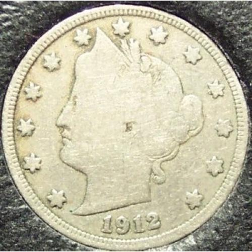 1912-D Liberty Head Nickel VG Partial Liberty #149