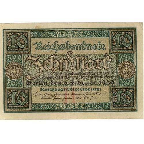 German Empire 1920 10 Marks DER-67