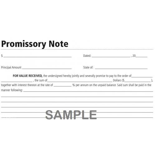 LF293 Promissory Note Form - instant download / TradePongo