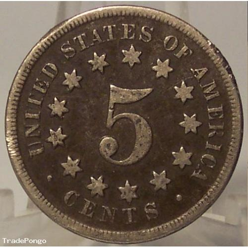 1868 Shield Nickel VG Details #0645